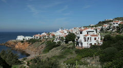 Menorca village sea coast mediterranean island balearic Stock Footage