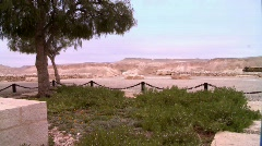 The grave of David Ben Gurion Stock Footage