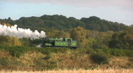 Stock Video Footage of Steam Train in the countryside