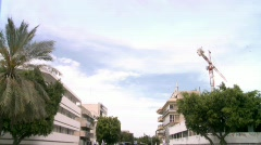 Street in the middle of a day Stock Footage