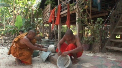 Angkor Buddhist monks - stock footage