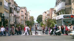 Stock Video Footage of Crowded Street 3