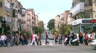 Crowded Street 3 Stock Footage