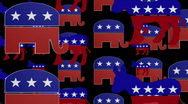 Republican and Democrat Symbol looping Animated Background Stock Footage