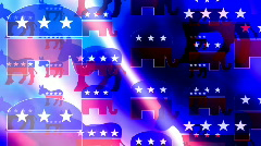 Republican and Democrat Symbols Looping Animated Background - stock footage