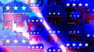 Stock Video Footage of Republican and Democrat Symbols Looping Animated Background