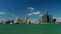 Detroit cityscape Stock Footage
