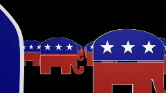 Republican symbol with Alpha animated looping background Stock Footage