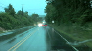 Stock Video Footage of driving in rain