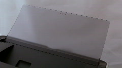 Stock Video Footage of Printer print congratulation text