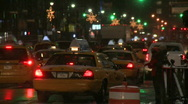 Stock Video Footage of New York yellow taxi traffic