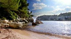 Menorca beach sea coast mediterranean island balearic Stock Footage