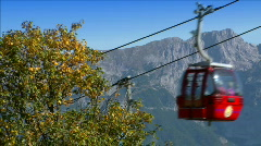 ropeway crossing high alp close - stock footage