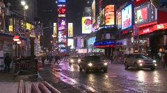 New York trafik pan 30p Stock Footage