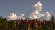 Stock Video Footage of Bryce Canyon 7 Time Lapse x10 Clouds