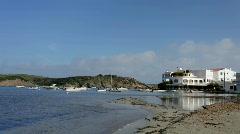 Menorca boats sea coast mediterranean island balearic Stock Footage