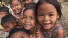 Village children Stock Footage