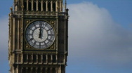 HD1080p Big Ben clock tower and the Houses of Parliament London England Stock Footage