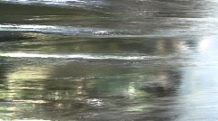 Transparent sparkling wall of a waterfall Stock Footage