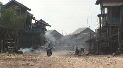 Waterside village Stock Footage