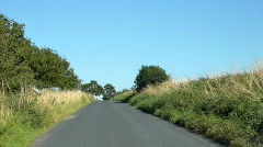 Drive along country road Stock Footage
