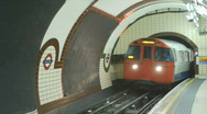Stock Video Footage of HD1080p London Underground train
