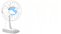 Fan with Fast Moving Clouds Stock Footage