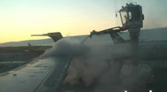 Stock Video Footage of Defrosting the plane in Helsinki airport 2a