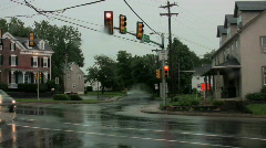 Flooding in an intersection Stock Footage