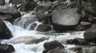 Small mountain cascade Stock Footage