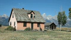 Farm house Grand Teton P HD 3240 Stock Footage