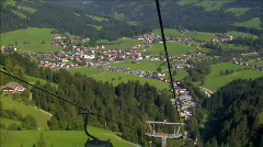 ropeway down city view - stock footage