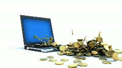 Stock Video Footage of Internet Money - Gold Coins