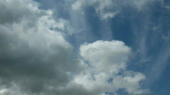 Clouds on sky, time lapse. Stock Footage