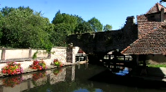 France Alsace Wissembourg medieval town Stock Footage