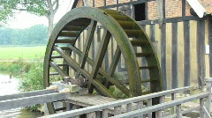 Water wheel Stock Footage