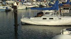 Db harbor sailboat Stock Footage