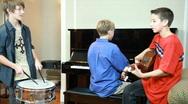 Teenage jazz band Stock Footage