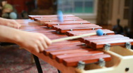 Boy playing marimba Stock Footage