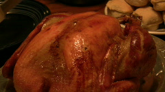 Carving holiday turkey Stock Footage