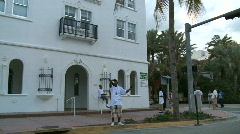 Stock Video Footage of Driving Miami Ocean Drive -  Buildings Art Deco - Clip 3 of  3