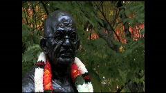 Mohandas Gandhi Statue CU 5a Stock Footage