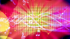 Music Retro Looping Animated Background - stock footage