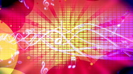 Music Retro Looping Animated Background Stock Footage