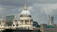 St pauls dome cathedral london building city urban landmark Stock Footage
