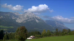 clouds in austria alp time lapse - stock footage