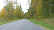 Road autumn tl Stock Footage