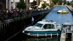 France Alsace Saverne Canal waterway Stock Footage