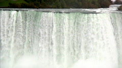 Stock Video Footage of Crest of the American Falls at Niagara Falls