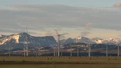 Wind turbines and mountains, early morning late fall, #4 Stock Footage